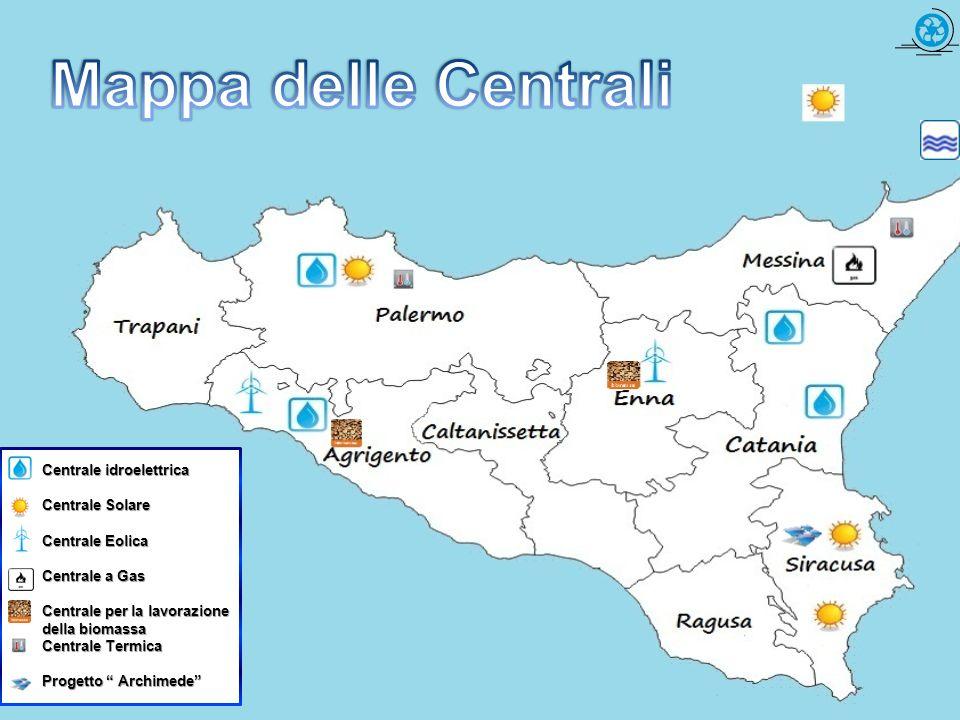 Mappa delle Centrali Centrale idroelettrica Centrale Solare