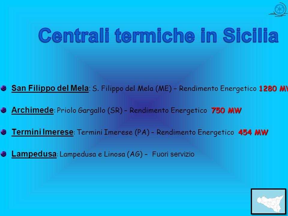 Centrali termiche in Sicilia
