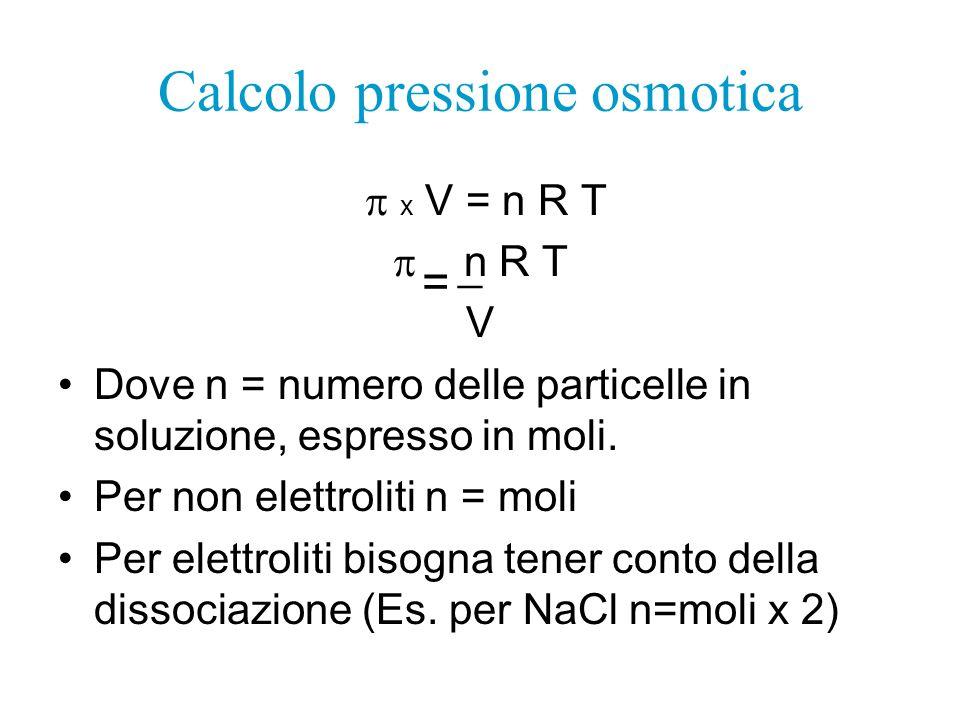 Calcolo pressione osmotica