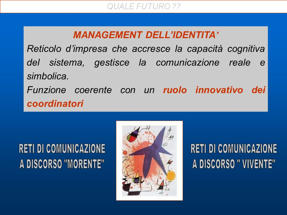 MANAGEMENT DELL'IDENTITA'