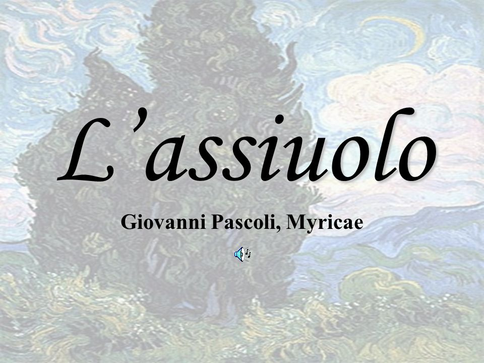Giovanni Pascoli, Myricae