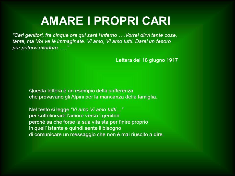 AMARE I PROPRI CARI