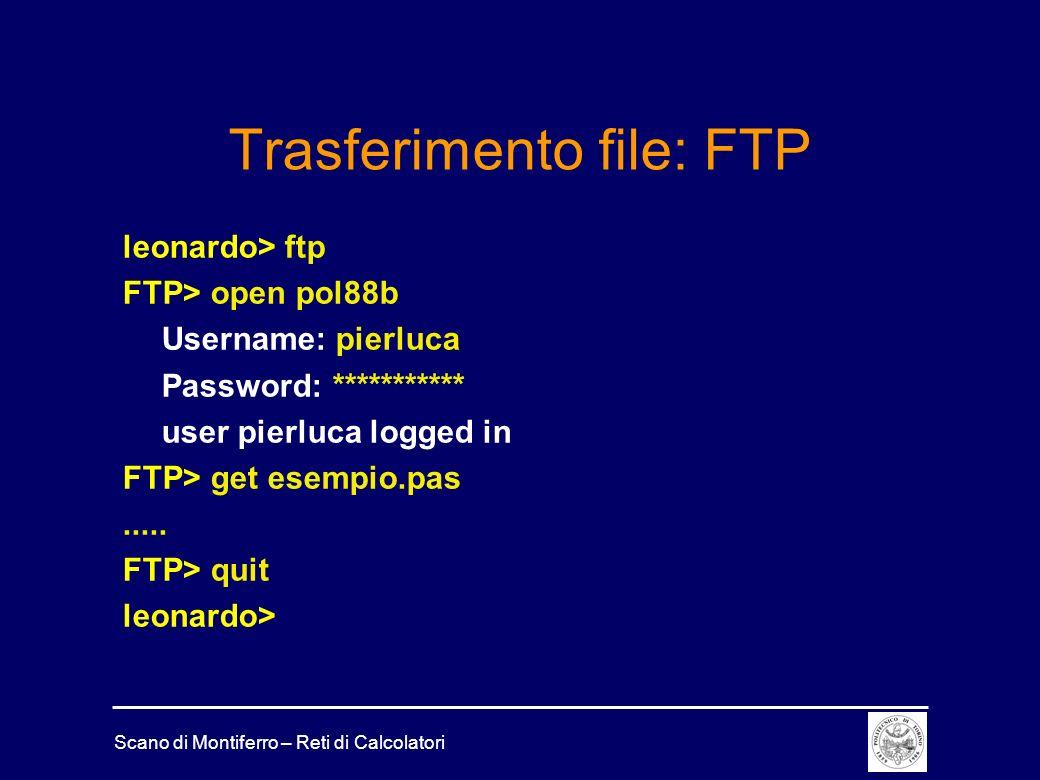 Trasferimento file: FTP