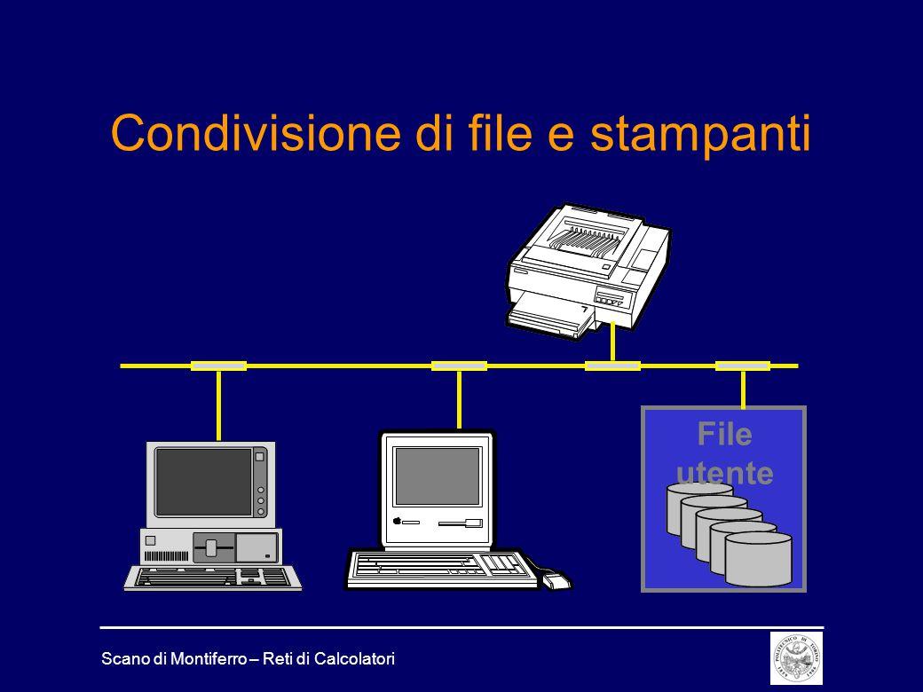 Condivisione di file e stampanti