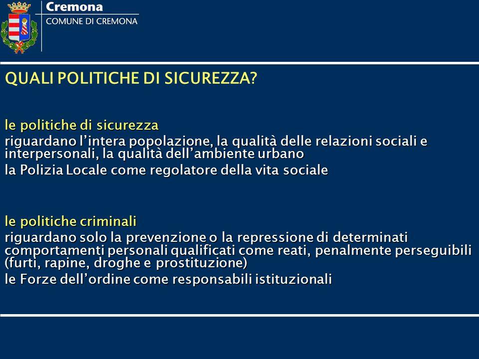 QUALI POLITICHE DI SICUREZZA