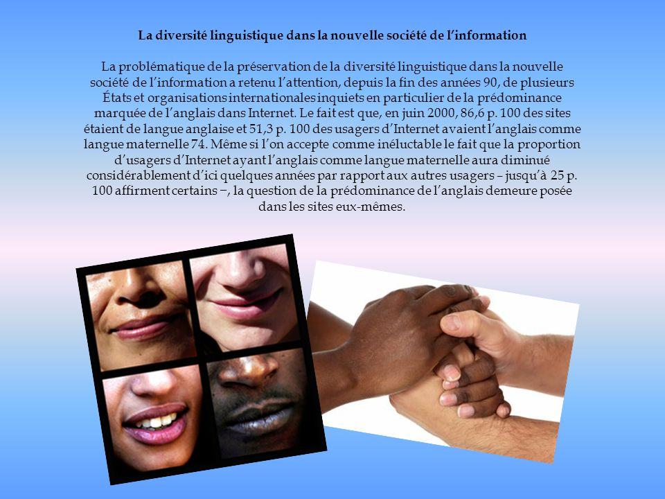 La diversité linguistique dans la nouvelle société de l'information