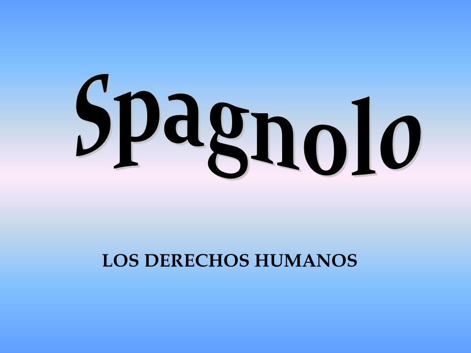 Spagnolo LOS DERECHOS HUMANOS