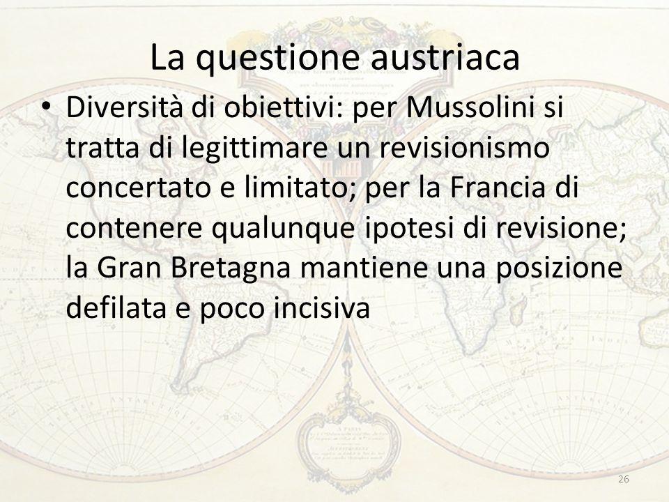 La questione austriaca