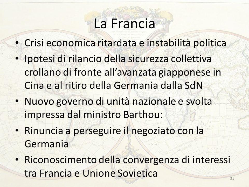 La Francia Crisi economica ritardata e instabilità politica