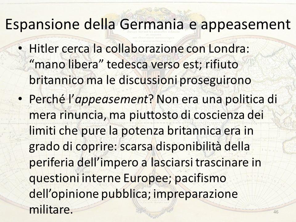 Espansione della Germania e appeasement