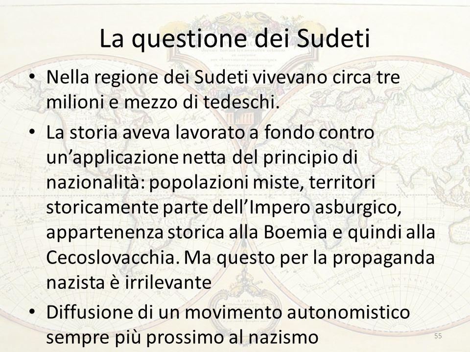 La questione dei Sudeti
