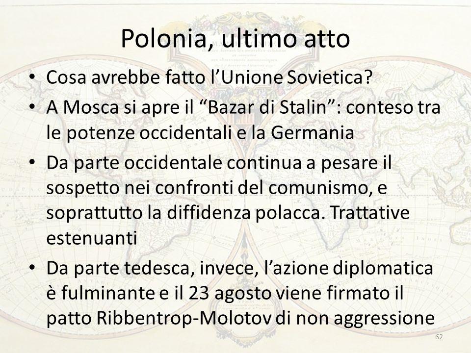 Polonia, ultimo atto Cosa avrebbe fatto l'Unione Sovietica