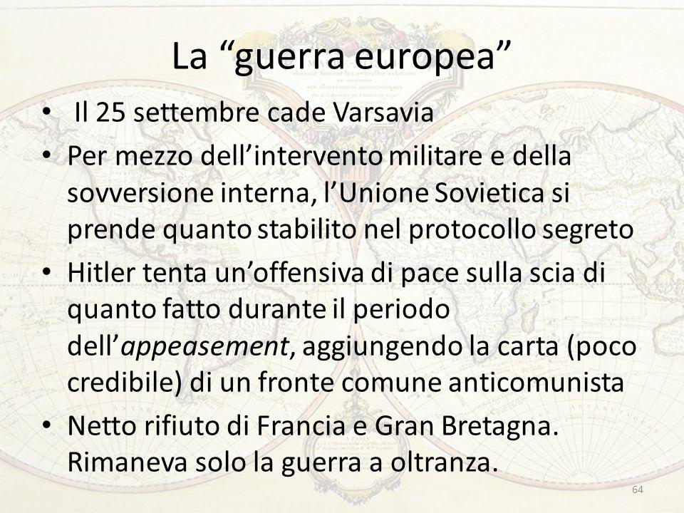 La guerra europea Il 25 settembre cade Varsavia