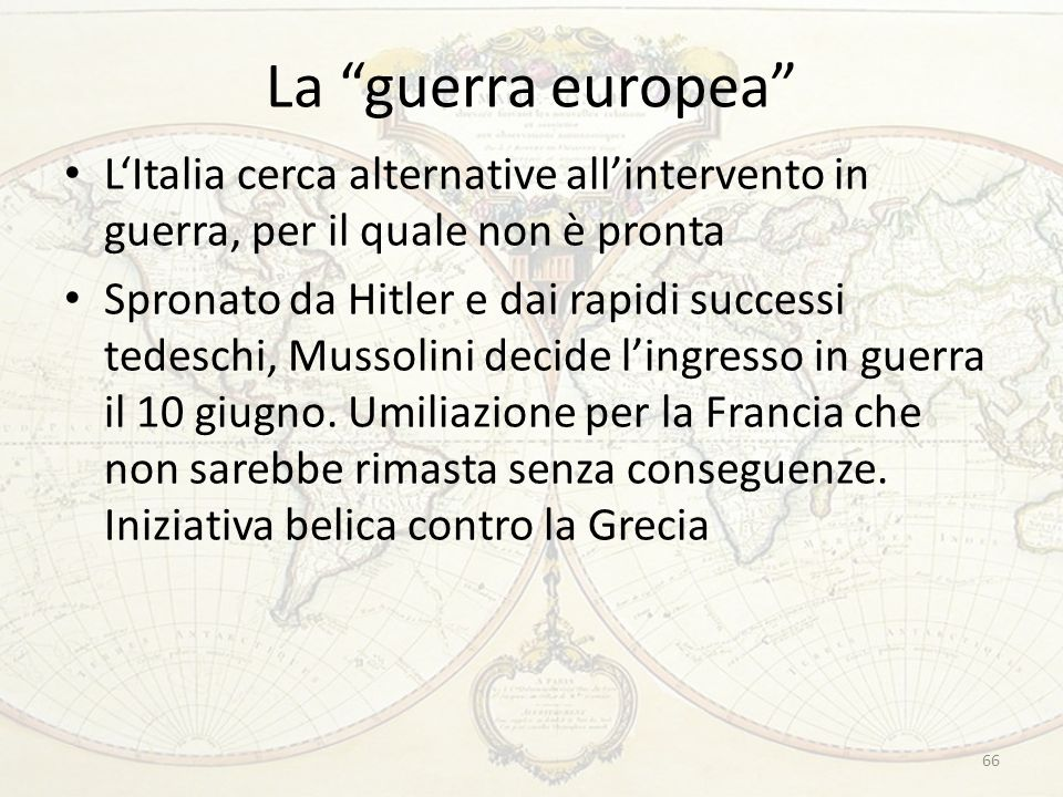 La guerra europea L'Italia cerca alternative all'intervento in guerra, per il quale non è pronta.