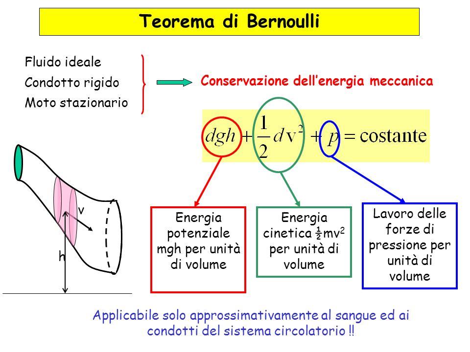 Teorema di Bernoulli Fluido ideale Condotto rigido Moto stazionario