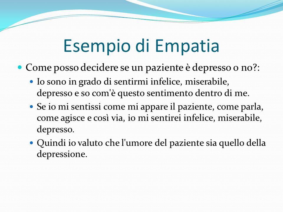Esempio di Empatia Come posso decidere se un paziente è depresso o no :
