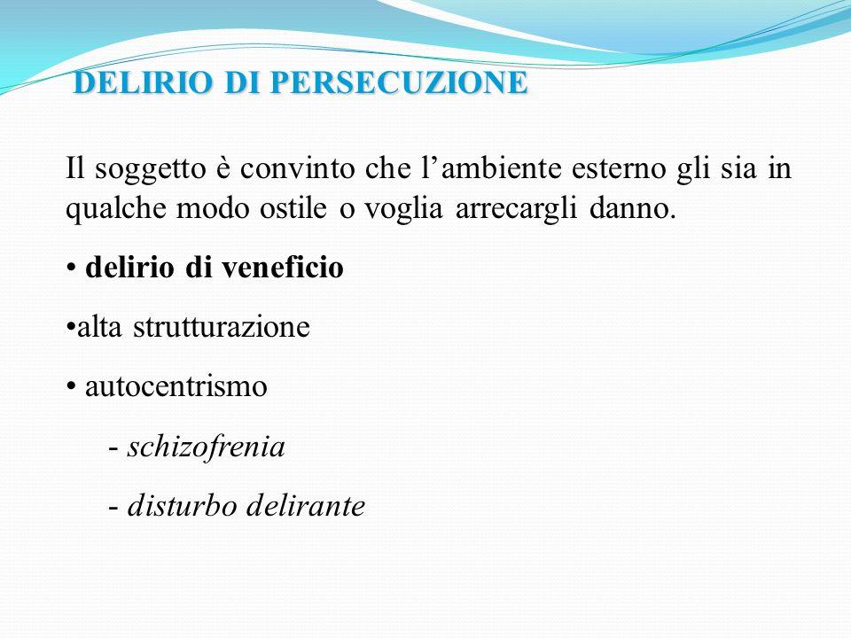 DELIRIO DI PERSECUZIONE