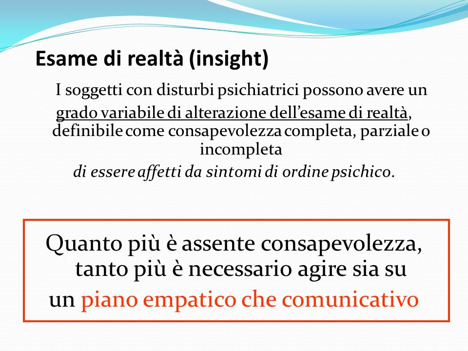 Esame di realtà (insight)