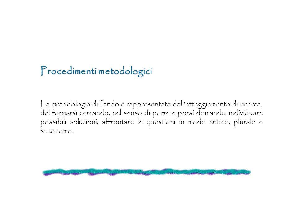 Procedimenti metodologici