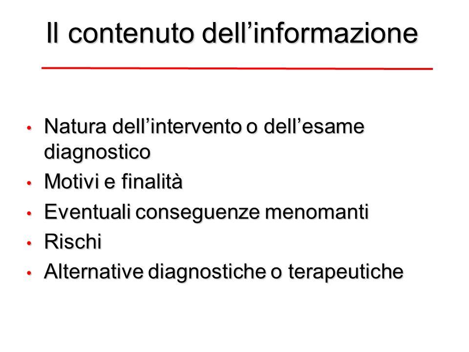 Il contenuto dell'informazione