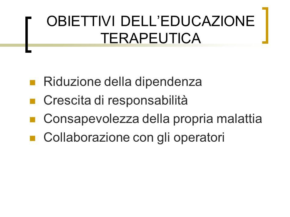 OBIETTIVI DELL'EDUCAZIONE TERAPEUTICA