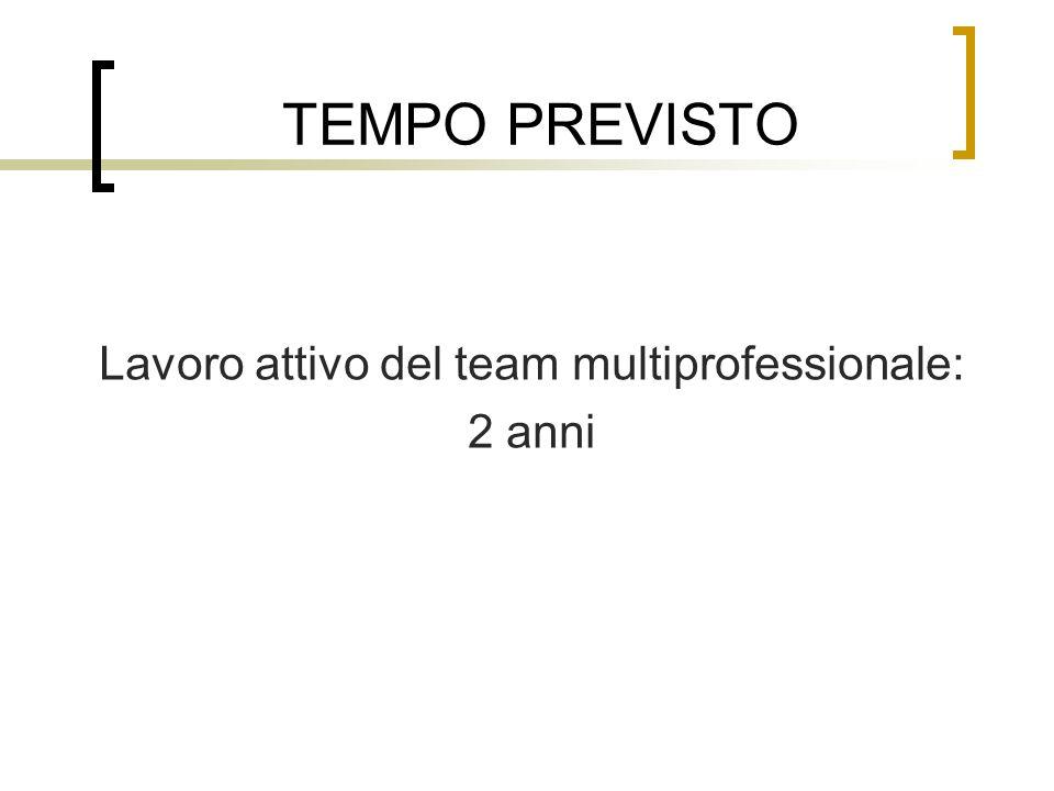 Lavoro attivo del team multiprofessionale:
