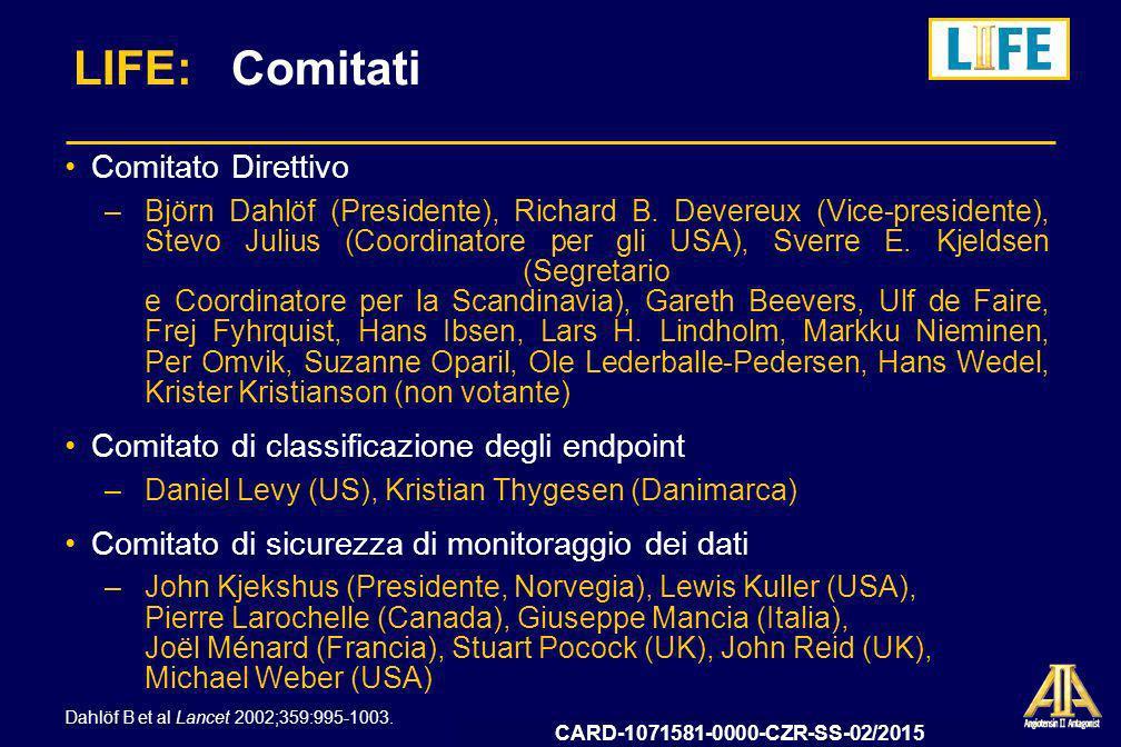 LIFE: Comitati Comitato Direttivo