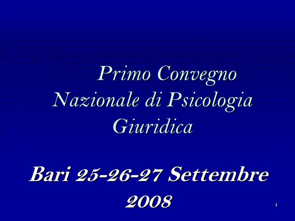 Primo Convegno Nazionale di Psicologia Giuridica