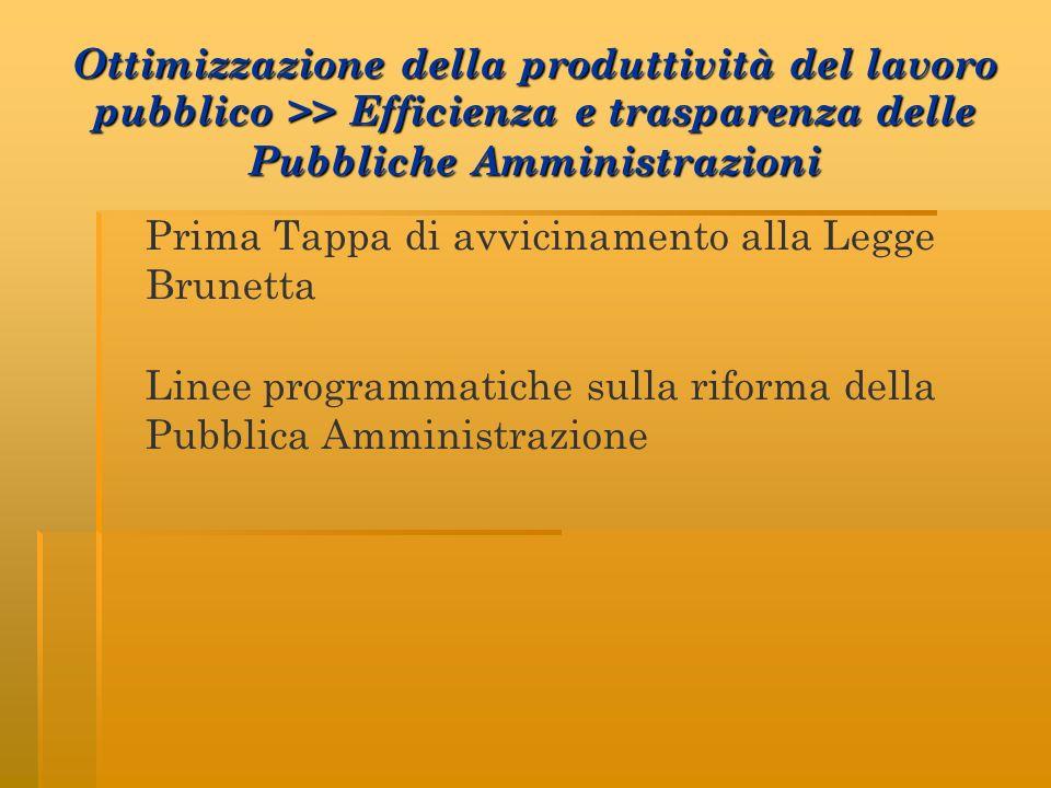 Linee programmatiche sulla riforma della Pubblica Amministrazione