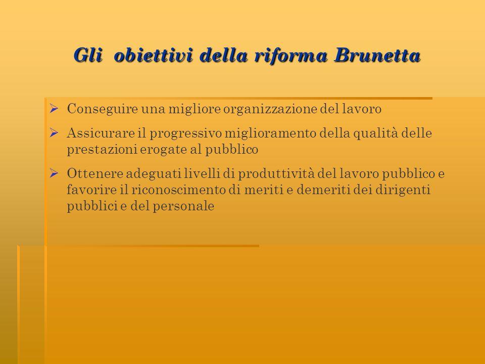 Gli obiettivi della riforma Brunetta