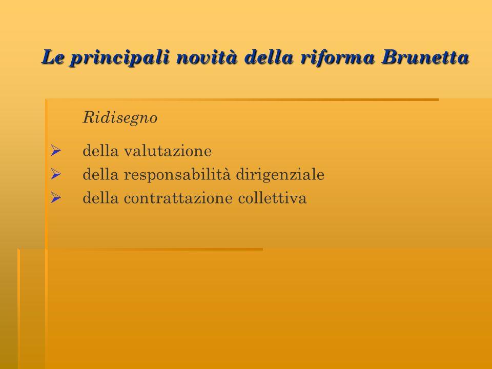 Le principali novità della riforma Brunetta