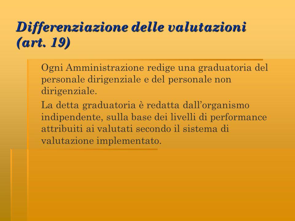 Differenziazione delle valutazioni (art. 19)