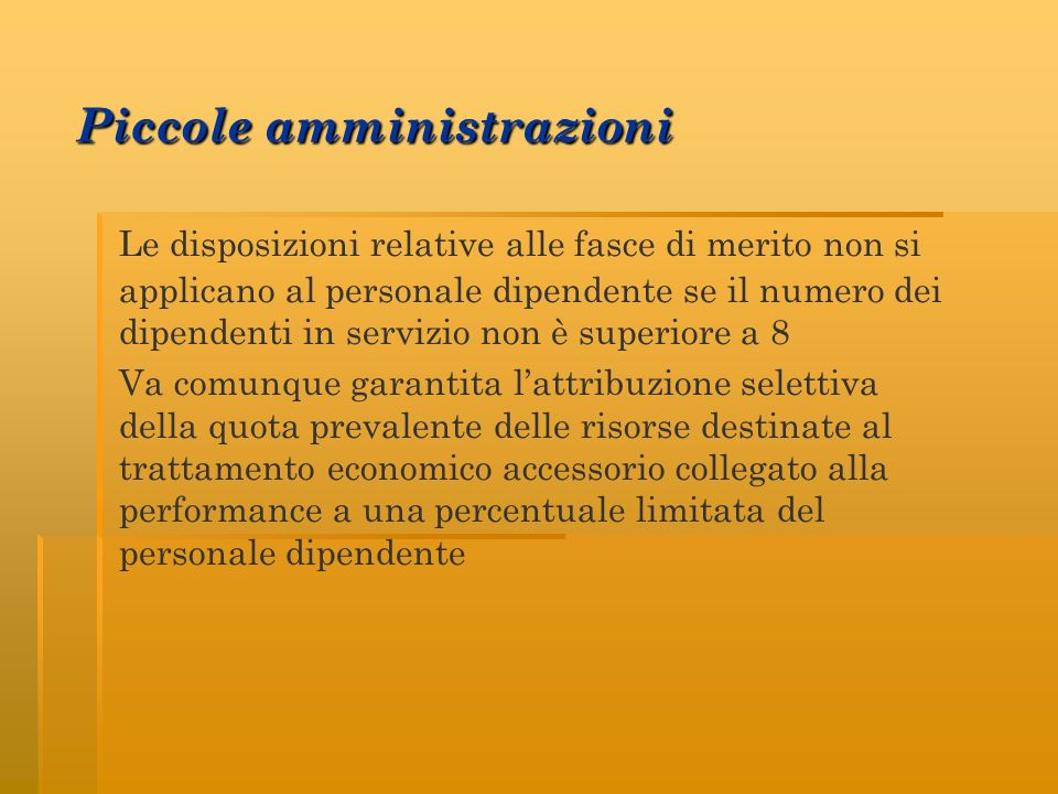 Piccole amministrazioni