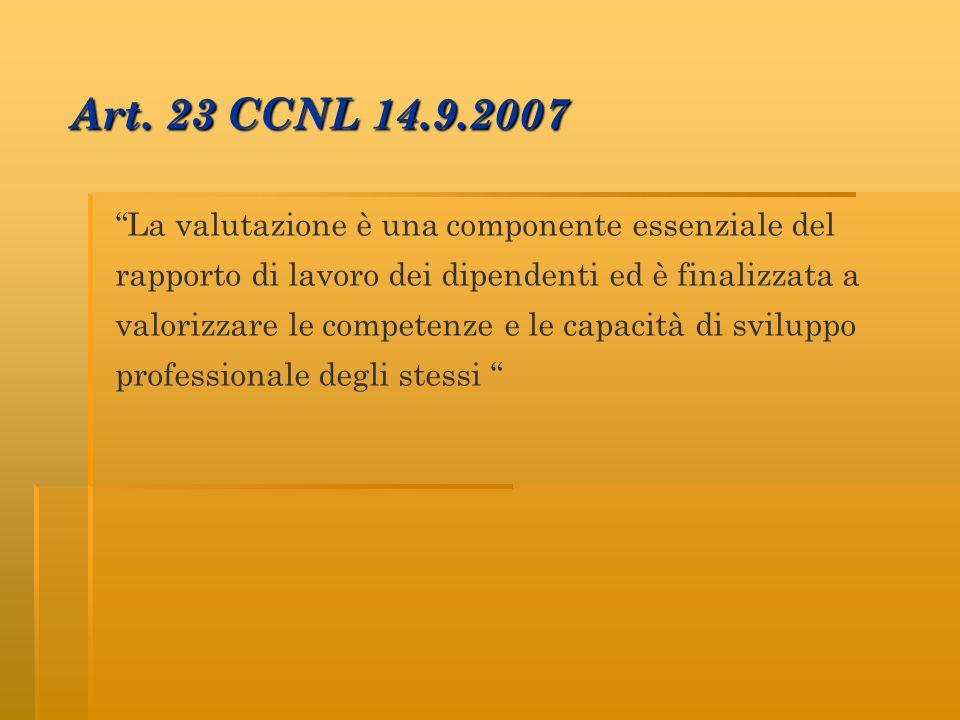 Art. 23 CCNL 14.9.2007