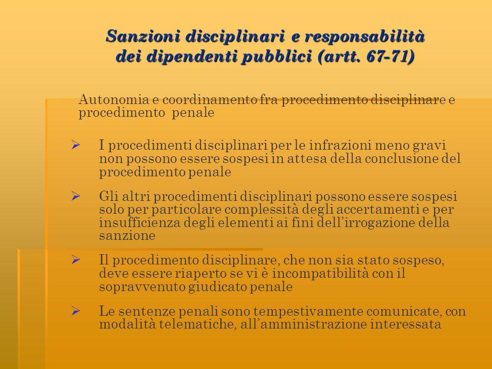 Sanzioni disciplinari e responsabilità dei dipendenti pubblici (artt