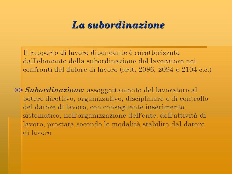 La subordinazione