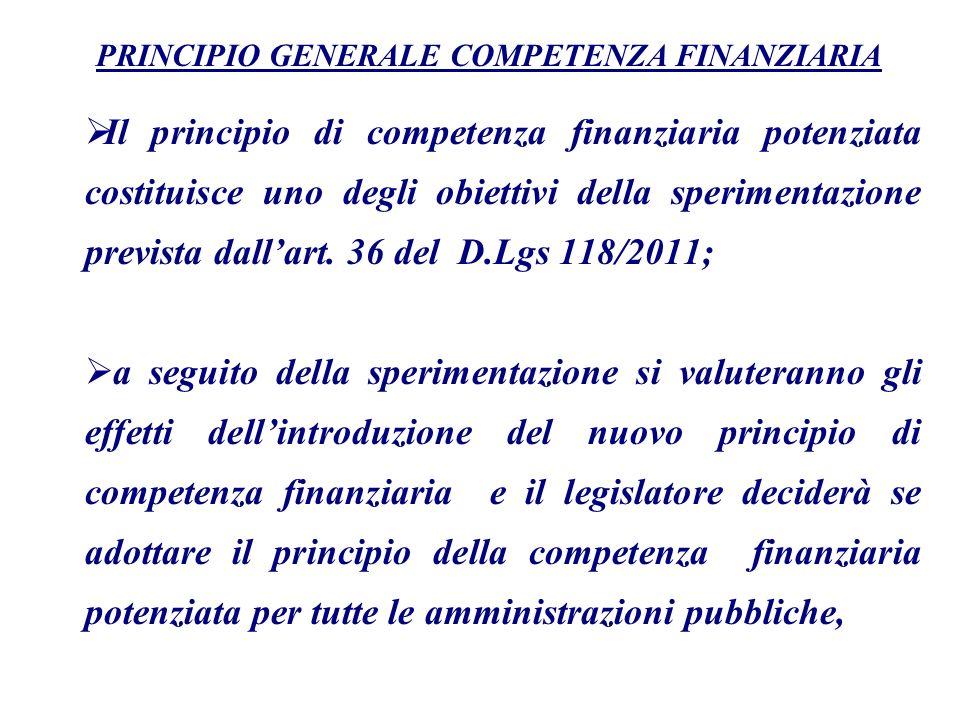 PRINCIPIO GENERALE COMPETENZA FINANZIARIA