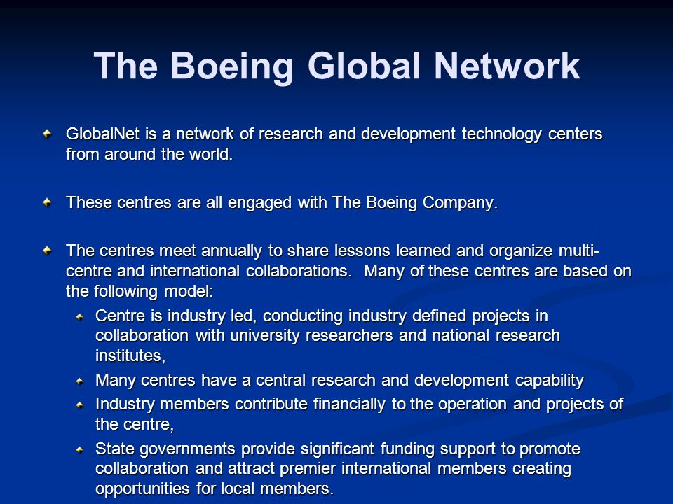 The Boeing Global Network
