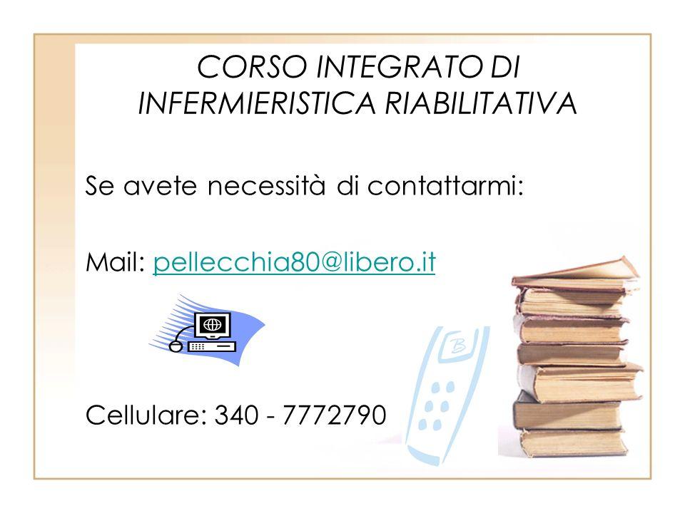 CORSO INTEGRATO DI INFERMIERISTICA RIABILITATIVA