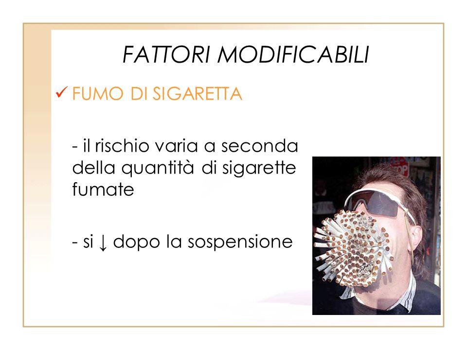 FATTORI MODIFICABILI FUMO DI SIGARETTA