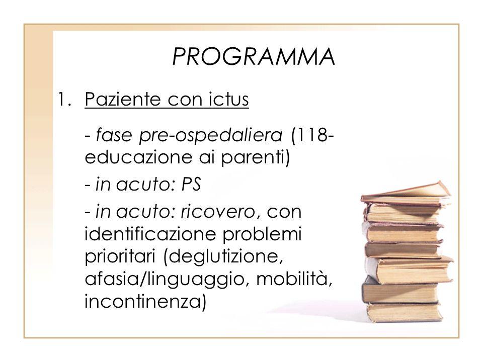 PROGRAMMA Paziente con ictus