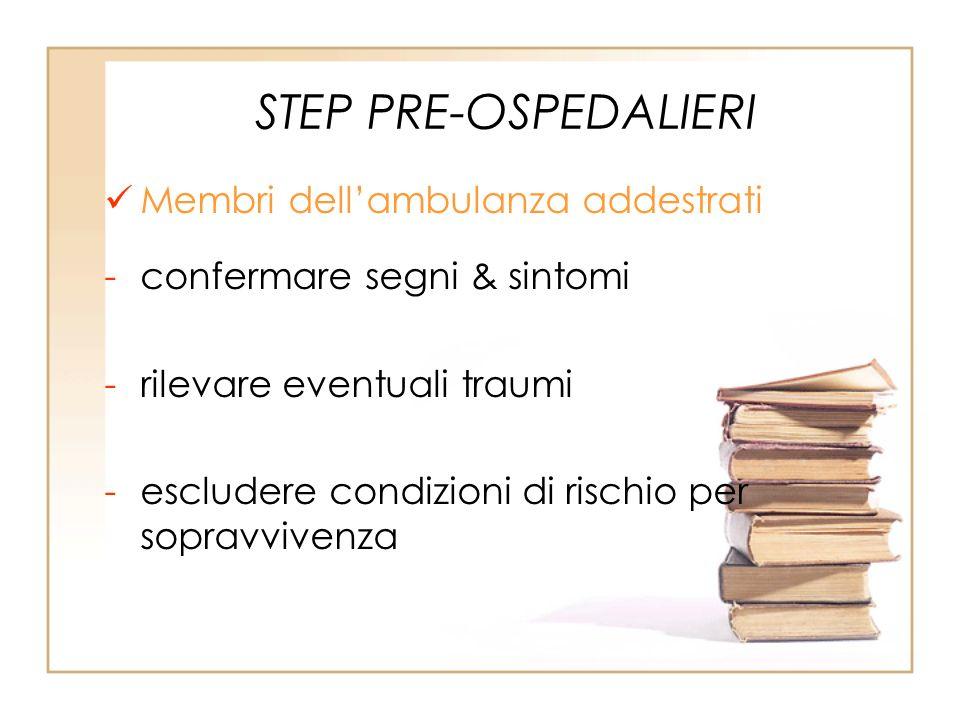 STEP PRE-OSPEDALIERI Membri dell'ambulanza addestrati