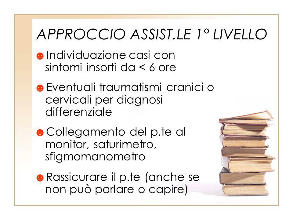 APPROCCIO ASSIST.LE 1° LIVELLO