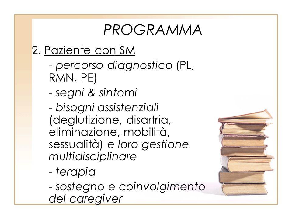 PROGRAMMA 2. Paziente con SM - percorso diagnostico (PL, RMN, PE)
