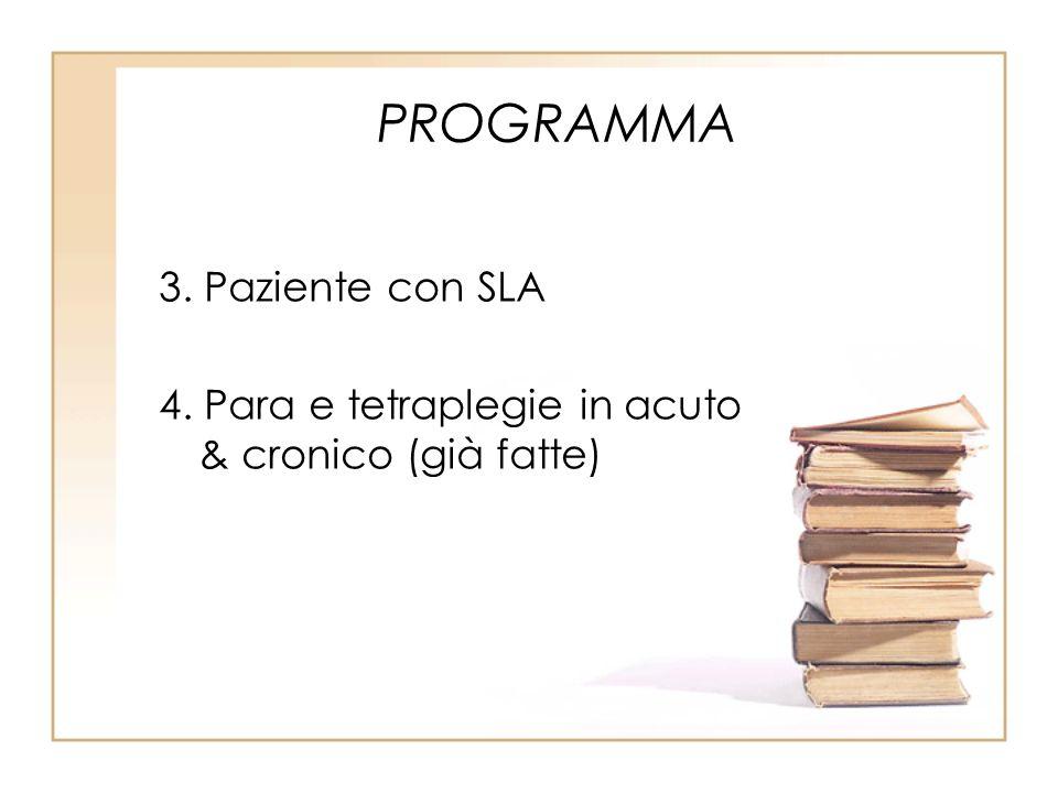 PROGRAMMA 3. Paziente con SLA