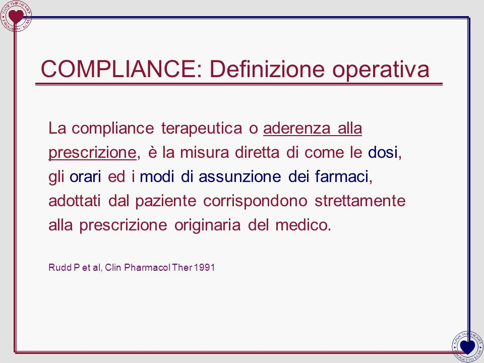 COMPLIANCE: Definizione operativa