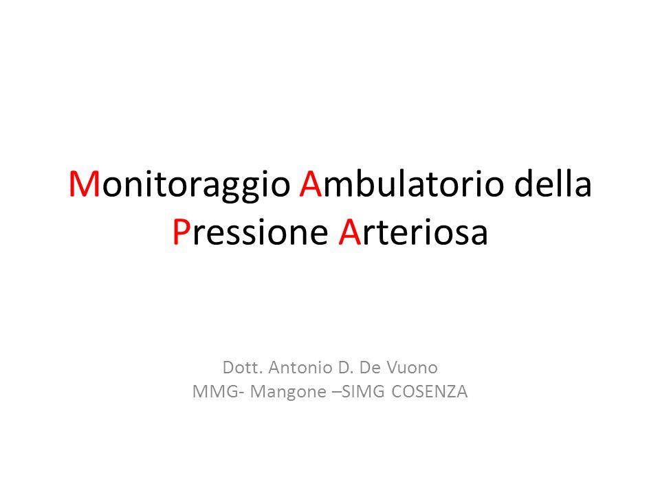 Monitoraggio Ambulatorio della Pressione Arteriosa