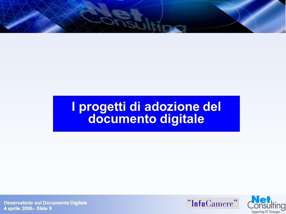Progetti di adozione del documento digitale