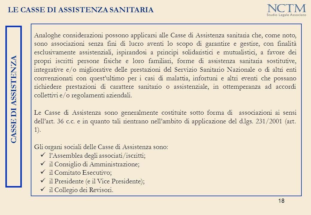 LE CASSE DI ASSISTENZA SANITARIA