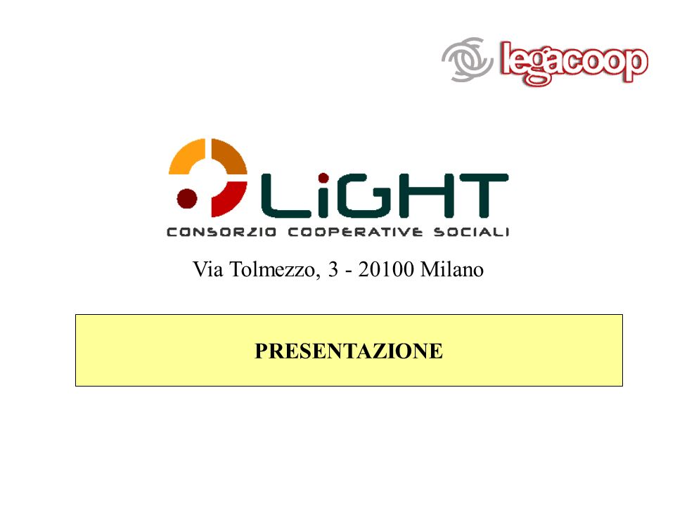 Via Tolmezzo, 3 - 20100 Milano PRESENTAZIONE